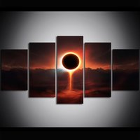 5 Piece Large Size Canvas Art Print Oil Painting Cosmic Time...
