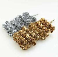 Дешевые 12 шт. 2 см золото серебряная слива искусственный мини-бумага Роза Записки свадебные украшения ремесленные аксессуары Рождество