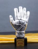 Футбольный матч золотые перчатки трофей трофей покрытие вратарь медаль ремесла оптом оптовая продажа фабрики прямых продаж
