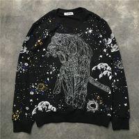 Szkic Tygrys Drukowane Męskie Kobiet Sweter Hip Hop Casual Bluzy Męskie Samice High Street Bluzy