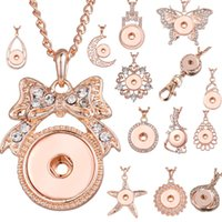 14 Styles New Rose Gold Colore Strass NOOSA Ginger Snap Button Gioielli Charms a scatto Collana 18mm Pendente 2019