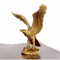 "Artesanía Cobre Bronce Latón China Bronce Latón Transbordo estatua Estatua de Feng Shui EAGLE / Hawk Figura figurilla 4.5 ""Alto"