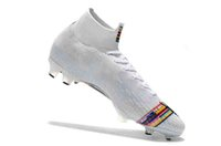 Original LVL UP Mercurial Neymar Superfly VI 360 Elite FG KJ 6 XII CR7 Ronaldo Neymar Chaussures de Soccer pour homme 20e Bottes de football Crampons