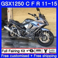 Kropp för Suzuki Bandit GSX1250F GSX1250FA GSX1250 C All Silvery 11 12 13 14 15 310HM.9 GSXF1250 GSX1250C 2011 2012 2013 2014 2015 Fairing