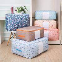 большого размера многоточия цветочного дизайна домашней одежды одеяло мешок хранения розовые голубые одежды лоскутного органайзер комната общежитие первой необходимость