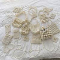Yaz bayan mini messenger çanta inci çanta inci boncuklu çanta çanta Ruj Cep Telefonu Torbalar hazırlayın El yapımı ins