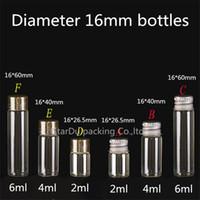 화장품 병 100PCS / 많은 직경 16mm 2ml를 4 ㎖ 6 ㎖ 식초 알코올, Carft / 저장 사탕 병 유리 병 스크류 캡