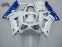 Personalizza Kit calibro cinese per Kawasaki ZX 6R 636 Ninja 03 04 ZX-6R ZX636 2003 2004 ZX6R Blue White Road Racing Motorcycle Fairings
