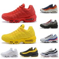 Red Yellow Mens Womens Running Shoes Classic Black White Tra...