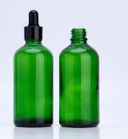 Altın gümüş siyah beyaz ile 100 ml yeşil cam damlalık şişe pipet damlalık parfüm uçucu yağ e sıvı ejuice