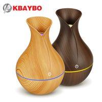 KBAYBO umidificatore aroma elettrica diffusore di oli ad ultrasuoni umidificatore legno USB raffreddare luci mini creatore della foschia a LED per home office