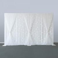 10x30ft toiles de fond de scène du parti pour rideaux de fond décoration de mariage d'argent fond de sequins festons