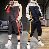 Cousssuit Мужчины Мода Hoodie + Спортивные штаны Телетогисты Спортивные Костюмы Студенческие Повседневные Ссоры Осень Безвозмездная Плачетные Комплекты