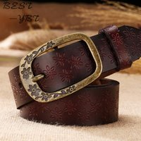 Designer Women New Fashion Belt Retro Embossed Leather Belt ...