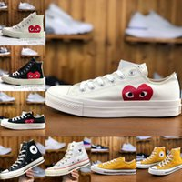 Men 1970s Big Eyes Play Chuck 70 Multi Heart 70s Hi Canvas S...