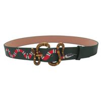 Hombre de serpiente Cinturones de mujer Cinturón de diseño Cinturón de la marca de letras Aguja Hebilla para hombre Cinturones 3 estilos opcionales