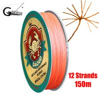Daoud 12 Strands Angelschnur 150m PE Stark Multifilament Fisch Linie Super Power Abriebfeste Braid Angelschnur