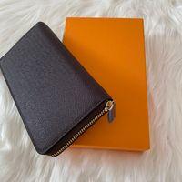 Modevollste Reißverschluss Brieftasche Karten und Münzen Berühmte Herren Geldbörsen Leder Geldbörse Kartenhalter Münze