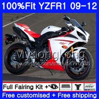 Injection pour YAMAHA YZF 1000 R 1 stock YZF R1 rouge blanc 2009 2010 2011 2011 2012 241HM.29 YZF-1000 YZF-R1 YZF1000 YZFR1 09 10 11 12 Kit de coiffage