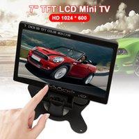 FreeShipping Mini 7-дюймовый TV HD 1024 * 600 TFT LCD Цифровой и аналоговый небольшой телевизор с VGA / AV в портативный экран