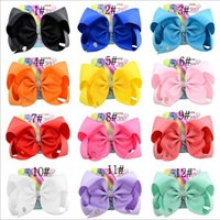 "8"" Large JoJo Clip Grosgrain Ribbon Bow With Alligator ..."