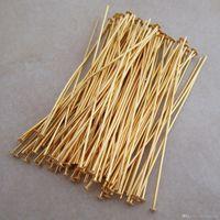 400 adet / grup Altın Kaplama Konnektörler Kafa Pins Bulma İğneler takı yapımı