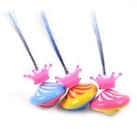 Nieuwe kroon met optische vezel elektrische flash muziek gyro drift gyro lichtgevende speelgoed fabrikanten directe verkoop
