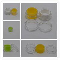 Vape için Kapak Konsantre Yağ Bütan Kavanozları Dab ile Akrilik Kavanozlar Dab Wax Konteyner Dış 5ml Plastik Wax BHO Yağ Paramparça Silikon Liner