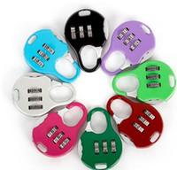 3 chiffres combinaison de mot de passe verrouillage en alliage de zinc sécurité valise bagages codé placard armoire mini casier cadenas à clé coloré