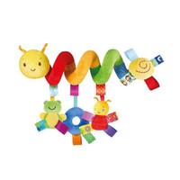 Lavável cama de bebê Stroller Hanging Rattle Plush carro de bebê Educação Toy coloridos Toy Sino fresco Cor Não Descoloração