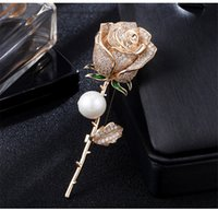 Full Diamond Rose Corsage For Female New Trendy Flower Pearl...