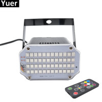 Aluminium Shell 48 LED ljusare DJ Disco Sound Aktiverad Laser Projektor Strobe Flash RGB Stage Lighting Effect Lamp Musiklampa