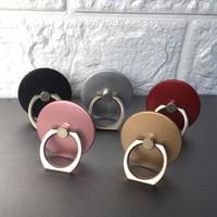 Handy-Halterungen Runde Handy-Ringhalterung Stick-Typ Rotierende Halterung Metallring Schnalle Halterung Handy-Zubehör