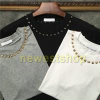 2021 HotSelling Summer Tag Kleidung Herren Kurzarm T-shirt Metall Stern-Hals-T-Shirt Designer T-shirts Frauen Unsex Casual T-Shirt-Tops