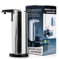 Otomatik Sabunluk Oto İndüksiyon Sıvı Sabun Dispenserler Paslanmaz Çelik Ücretsiz Yıkama Makinesi Köpük Sabun Makinesi 100pcs IIA46