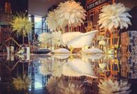 20-22 polegadas (50-55 cm) plumas coloridas de plumas de avestruz para festa de casamento peça central do casamento decoração decoração do evento festivo Z134