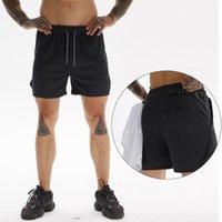 Ejecución de entrenamiento para hombre Pantalones cortos de entrenamiento deportivo de fitness Sendero secado rápido de deporte masculino gimnasia pantalones cortos de atletismo Deporte Hombre Pantalones cortos