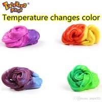 Inteligente criativa Mão Gum Temperatura plasticina Mudança Acontece luz colorida Slime Silly Putty argila Fimo Plasticine Mud Doh Crianças Brinquedos presente