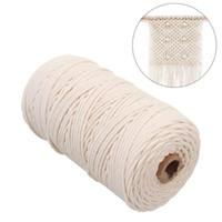 Cord 2mmx200m Macrame cotone per appendere a parete Dream Catcher corda fornitura del mestiere DIY della stringa a mano decorativo domestico