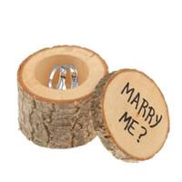 Rustic Wedding Ring Bearer scatola personalizzata Wedding Ring Box facciamo i regali di nozze in legno anello Holder Box RRA2062