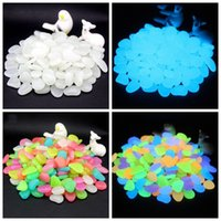 50pcs Glow in the Dark Stones Luminous Pebbles Rocks Stone f...