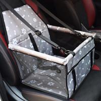 Oxford Car Viagem Pet Carrier Dogs Cat assento Pillow gaiola da caixa dobrável Box transportando sacos Animais Supplies Transporte filhote de cachorro Chien