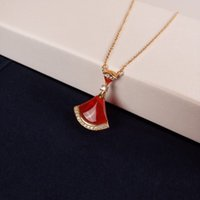 Toptan-Diva'nın Rüya S925 Gümüş Seramik Fan Charm Kolye Kısa Zincir kolye İçin Kadınlar Takı