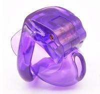Neueste Design Die Nub von HT V3 Naturharz Male Cock Cage mit 4 Penis-Ring Bondage Lock-Keuschheitsgürtel Erwachsene BDSM Sex-Spielzeug 4 Farbe 413