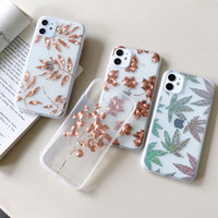 Heiß Selling Flower Designs Telefon-Kasten für iPhone 11 Pro XS Max XR X 8 7 Plus-New SE 2020 Galvanotechnik mobile Abdeckung
