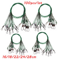 100pcs lot 5 Sizes Mixed 16cm- 28cm Anti- bite Steel Wire Fish...