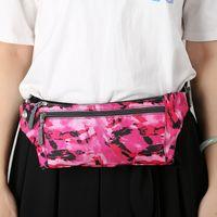 Moda camuflaje Bolsa de cintura de nylon resistente al agua cintura táctica Bolsa Running bolsa de deporte al aire libre del alpinismo del paquete de Fanny de la cremallera de la correa DBC VT0925
