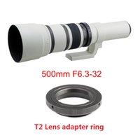 500mm F / 6.3 Teleobjetivo Lente Prime Lens + T2 Lente adaptador de lentes para Canon