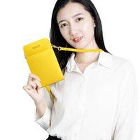전화 가방 팝 미니 소프트 PU 가방 신용 카드 케이스 ID 카드 홀더 지갑 지퍼 동전 가방 지퍼 포켓