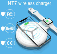 10W 2 in 1 QI Wireless Charger For iPhone X XS Max XR 8 Fast...
